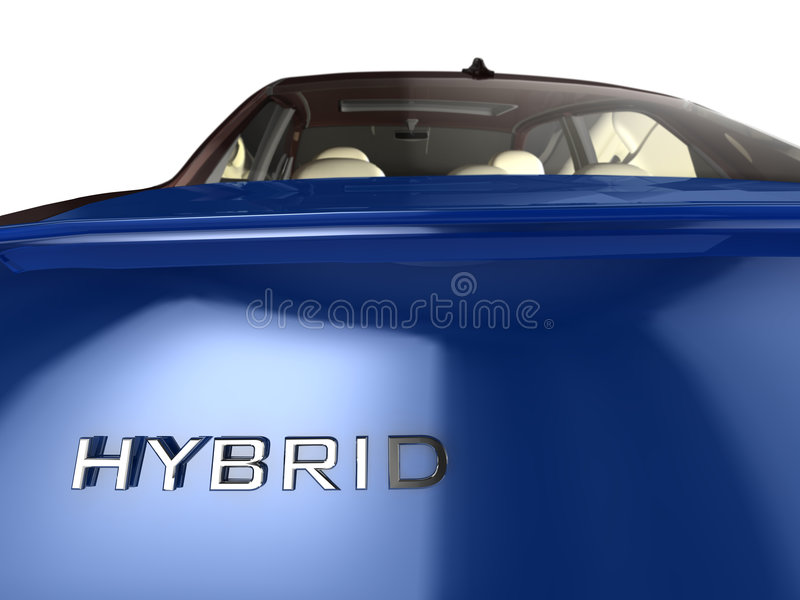 Hybride Auto stock illustratie