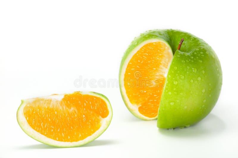 Hybride d'orange d'Apple images libres de droits