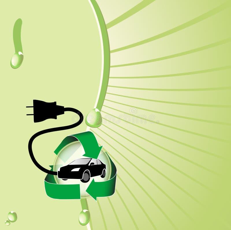 Hybride Elektrische Auto stock illustratie