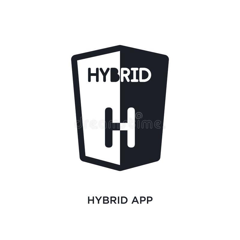 hybrider App lokalisierte Ikone einfache Elementillustration von den Technologiekonzeptikonen Logozeichen-Symbolentwurf des hybri vektor abbildung