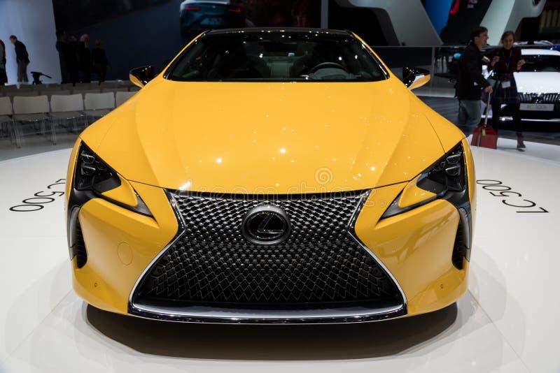 Hybrides Auto 2018 Luxuscoupés Lexuss LC-500 stockbild