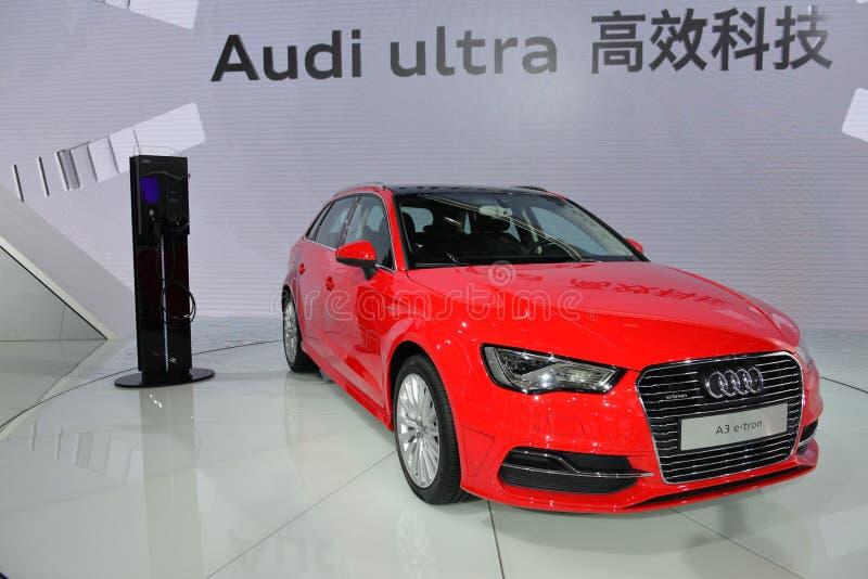Hybridfahrzeug Audis A3 ETron lizenzfreies stockbild