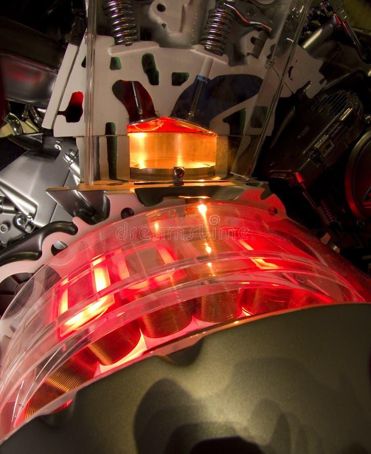 Hybrydowy samochodowy silnik zdjęcia royalty free