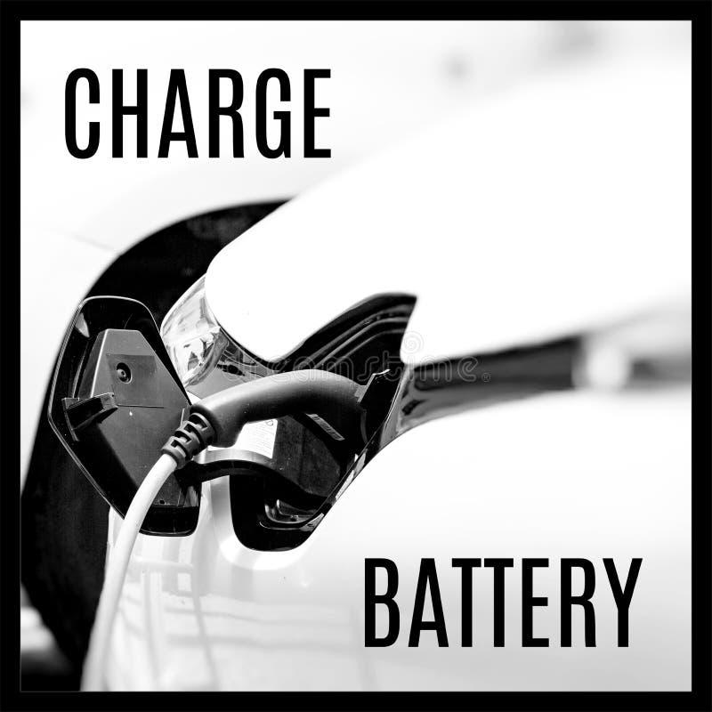 Hybrydowy samochód Pojazd czysta energia Zaczynać silnika fotografia royalty free