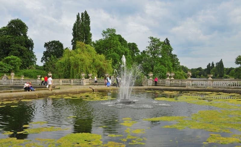 hyde πάρκο του Λονδίνου βασί& στοκ εικόνα