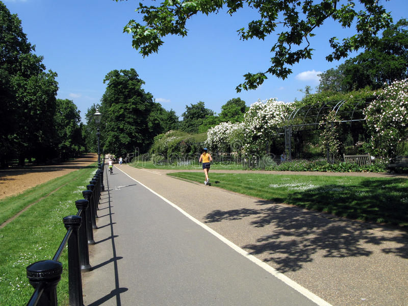 Download Hyde Park Bicycle And Jogging Path Editorial Stock Photo - Image: 20415778