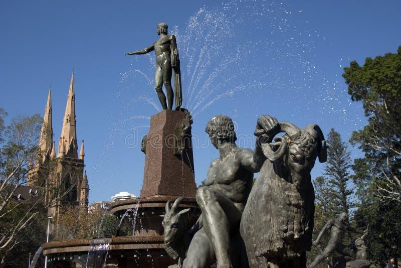 Hyde park fontann fotografia stock