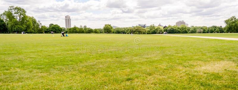 Hyde Park, London, UK. Large lawn in Hyde Park, London, UK stock photography