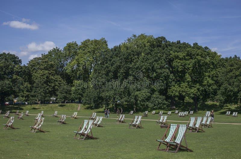 Hyde Park, refrigerando foto de stock royalty free