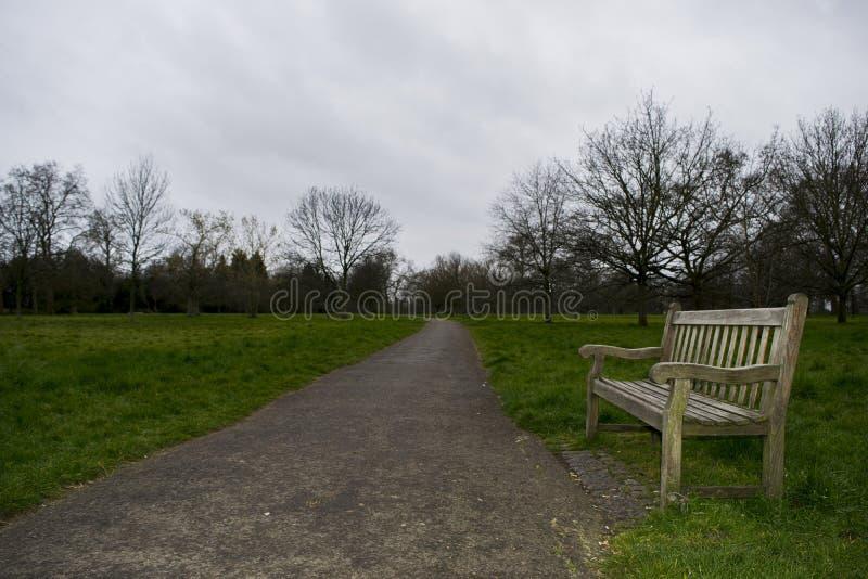 Hyde Parkowy relaksujący krzesło zdjęcia stock