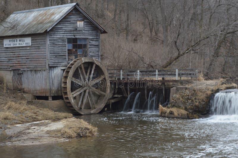 Hyde`s Mill i Ridgeway, Wisconsin fotografering för bildbyråer