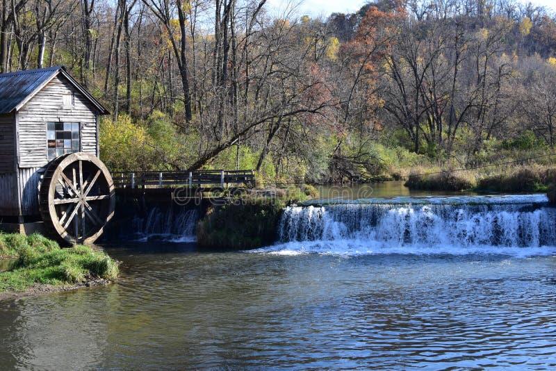 Hyde`s Mill i Ridgeway, Wisconsin arkivfoto