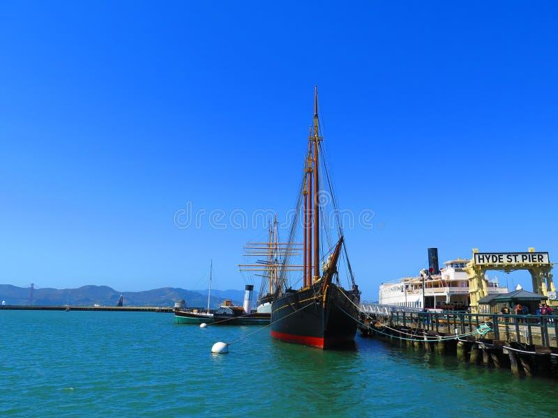 Hyde St Pier a San Francisco immagini stock