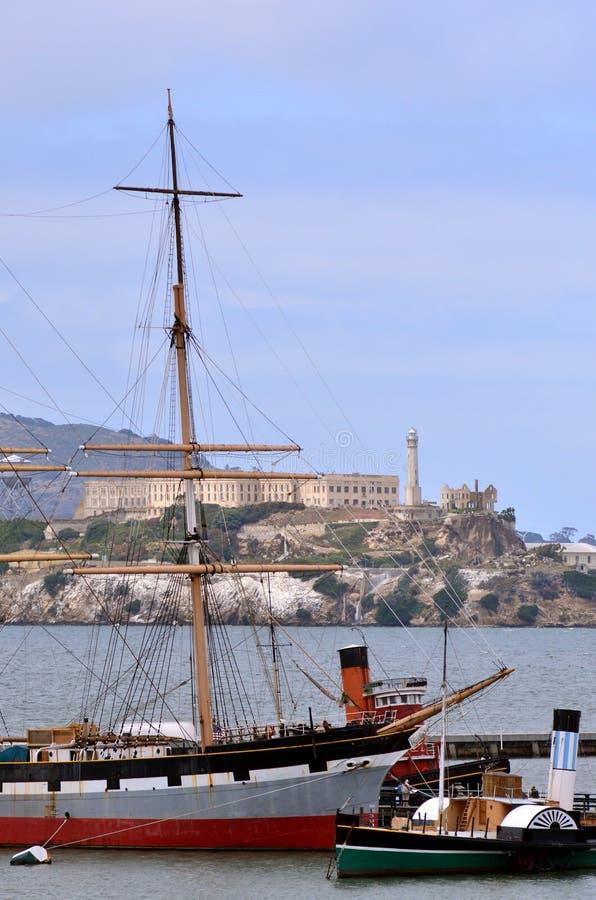 Hyde Street Pier in molo del pescatore a San Francisco - CA immagini stock