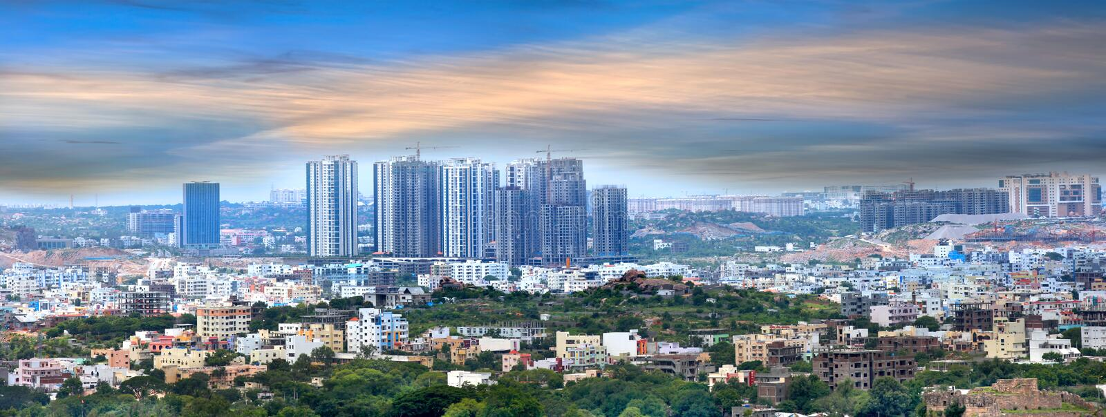 Hyderabad Financial District Editorial Stock Image