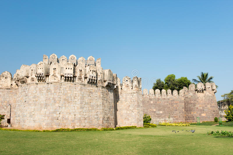 Hyderabad, India. The beautiful Golconda Fort in Hyderabad in India stock photos