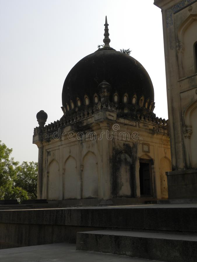 Hyderabad, India - January 1, 2009 Ancient dome shaped structure of Qutb Shahi Tombs. Ancient dome shaped structure of Qutb Shahi Tombs royalty free stock photo