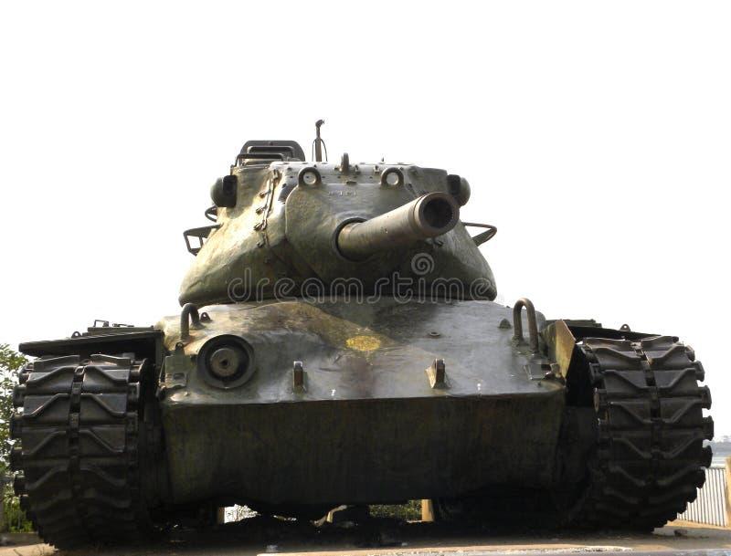 Hyderabad Indien - Januari 1, 2009 M47 Patton behållare på behållarebundvägen royaltyfri bild