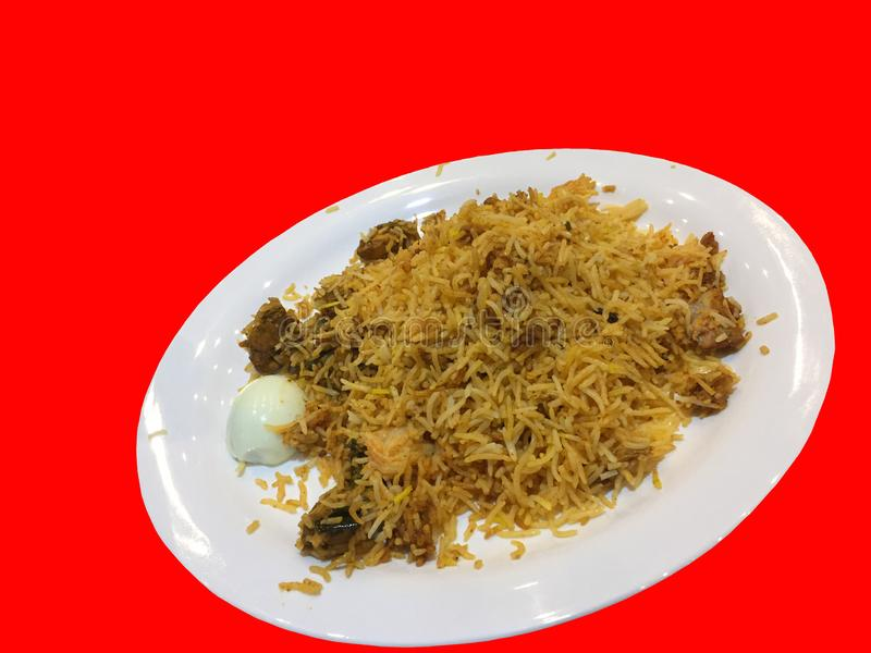 Special chicken dish which satisfy the hunger completely but not the craving to experience the taste of it. The Hyderabad special chicken dish which is famous stock image
