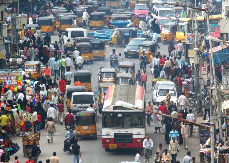 Hyderabad-Verkehr stockbild