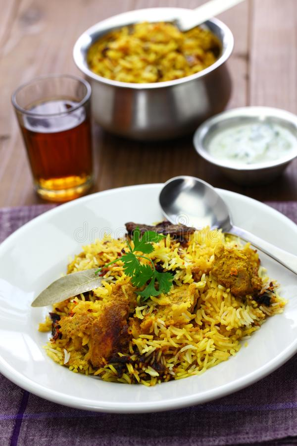 Hyderabadi鸡Biryani 库存照片