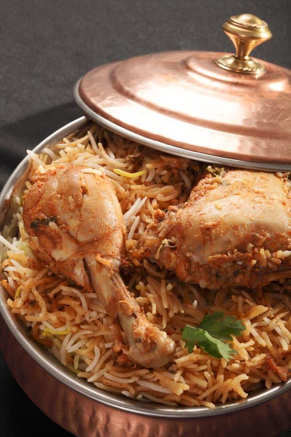Hyderabadi鸡Biryani 库存照片