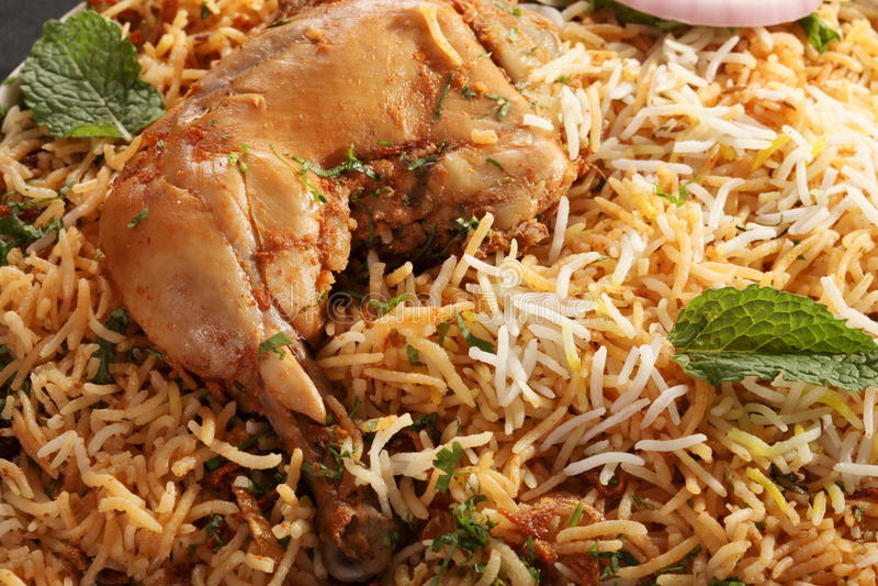 Hyderabadi Biryani 免版税库存照片
