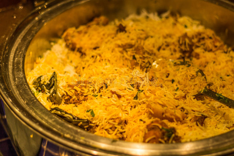 Hyderabadi-biryani Mahlzeit lizenzfreie stockbilder