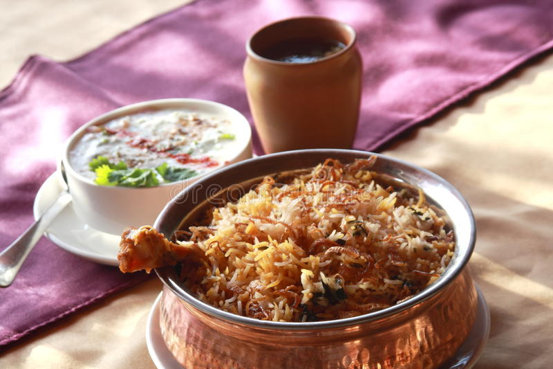 Hyderabadi Biryani stock image