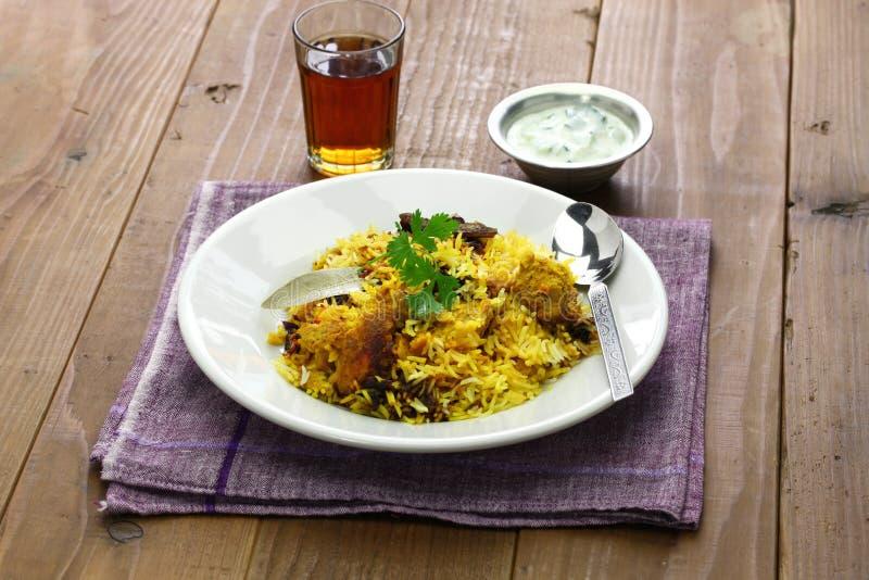 Hyderabadi chicken biryani royalty free stock photos