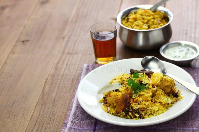 Hyderabadi chicken biryani royalty free stock photo