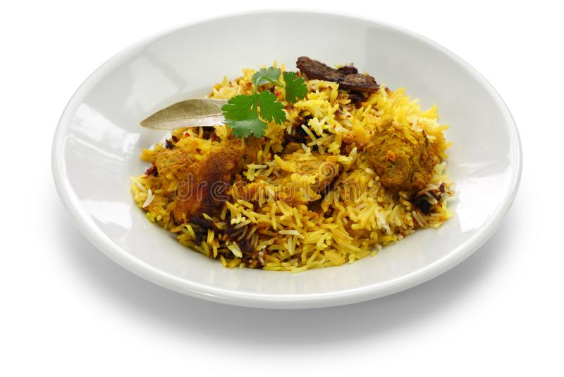Hyderabadi chicken biryani, indian cuisine stock images