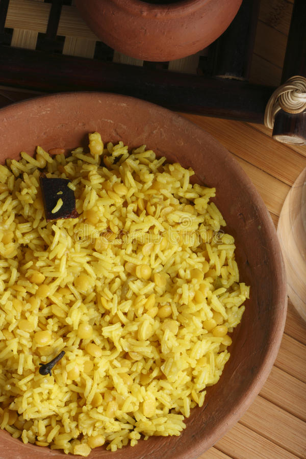Hyderabadi Khichdi - an Indian/South Asian dish. Hyderabadi Khichdi - an Indian/South Asian rice dish made from rice and lentils(dal stock photography