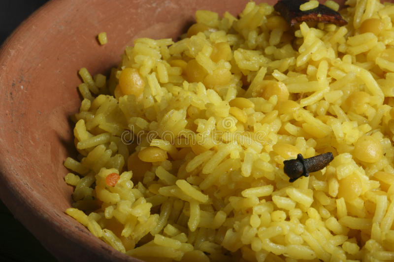 Hyderabadi Khichdi - an Indian/South Asian dish. Hyderabadi Khichdi - an Indian/South Asian rice dish made from rice and lentils(dal stock image