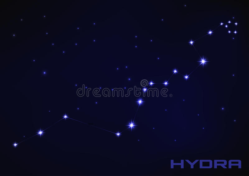 Hydra constellation royalty free illustration
