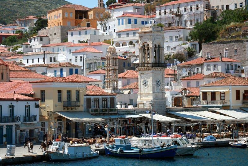 Hydra greco dell'isola fotografia stock libera da diritti