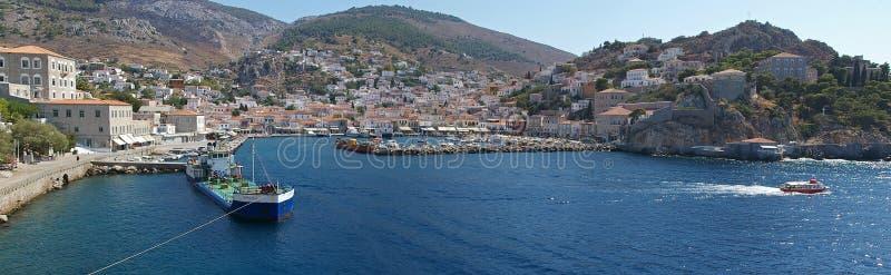 Hydra island. Panorama view of Hydra island, Greece royalty free stock photography