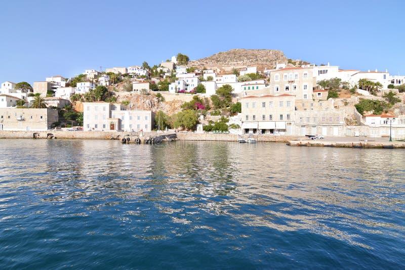 Hydra landscape Saoric Gulf Greece stock photography