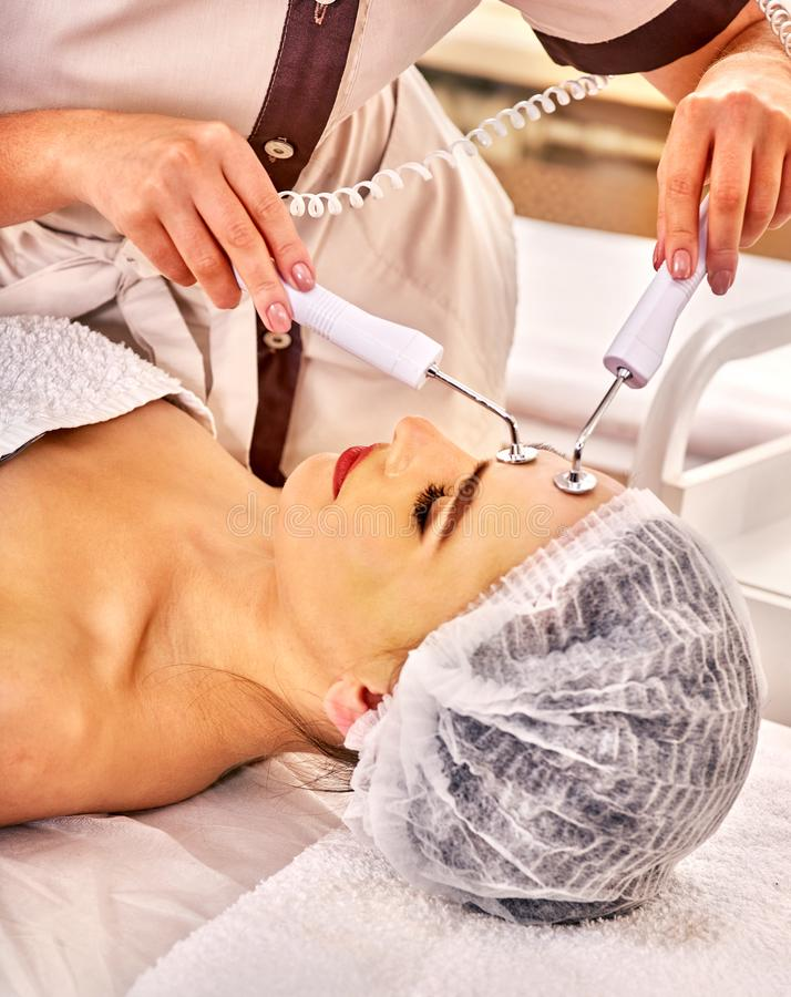 Hydradermie double Ionization needle free mesotherapy treatment royalty free stock image