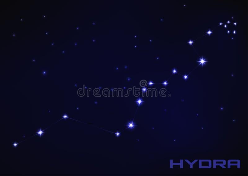 Hydrakonstellation royaltyfri illustrationer