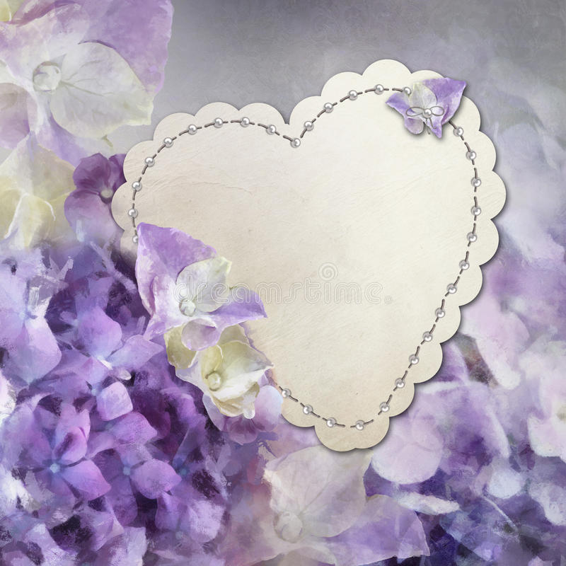 Download Hydrangea card stock illustration. Image of heart, marriage - 21982644