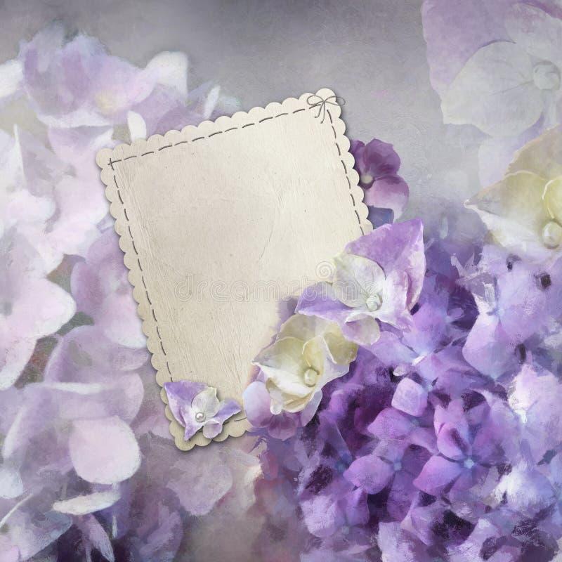 Download Hydrangea card stock illustration. Image of love, frame - 21982691