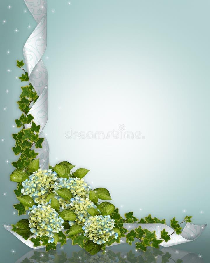 Hydrangea do convite do casamento ilustração do vetor