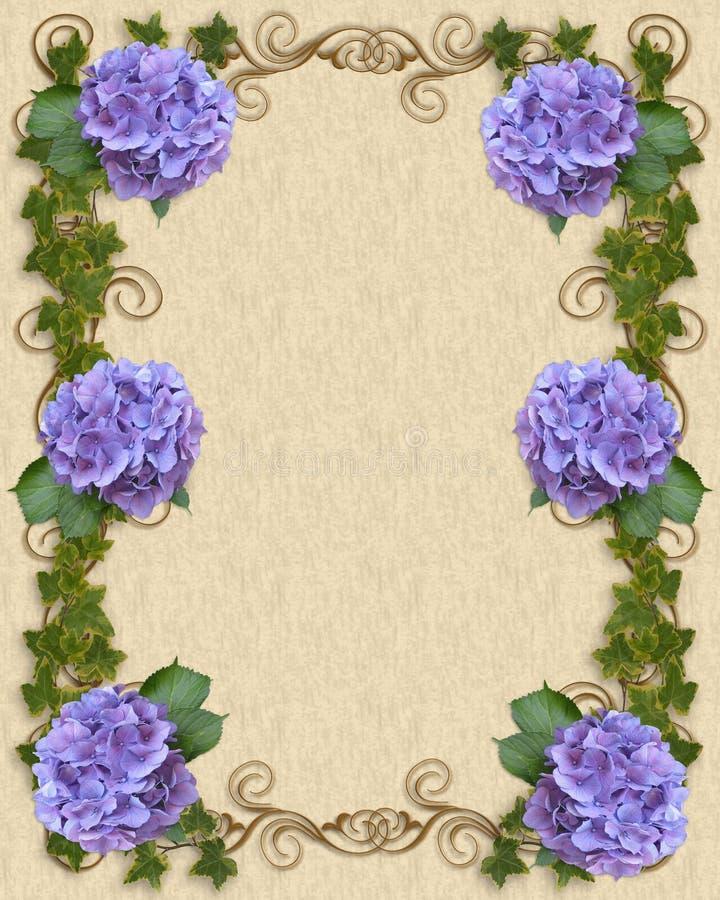 Hydrangea e hiedra de la invitación de la boda   libre illustration