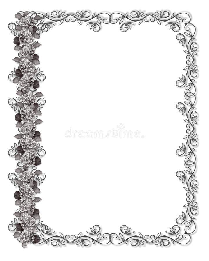 Hydrangea preto e branco ilustração royalty free