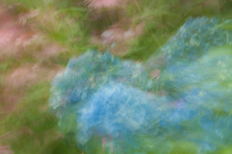 Abstract Flowers in Shades of Pantone Aqua and Rose royalty free stock photo