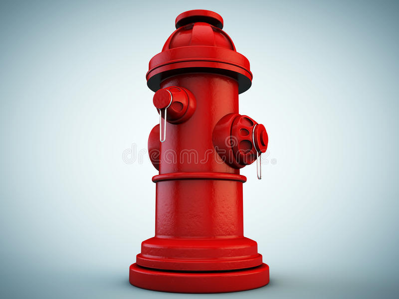 Hydrant. Isolated on blue background vector illustration