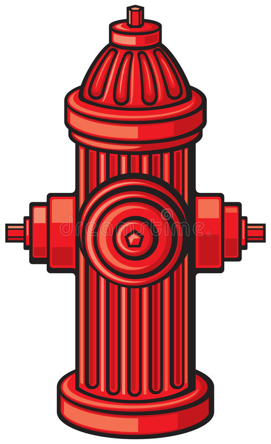 Hydrant. Fire Hydrant, traditional red fire hydrant royalty free illustration