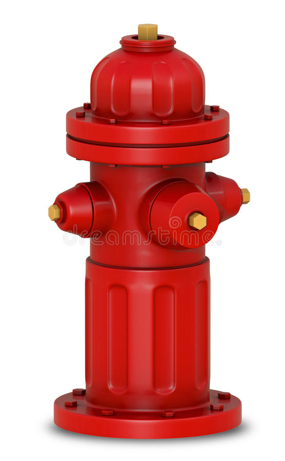 Hydrant 3d. Emergency red hydrant 3d for safety royalty free illustration