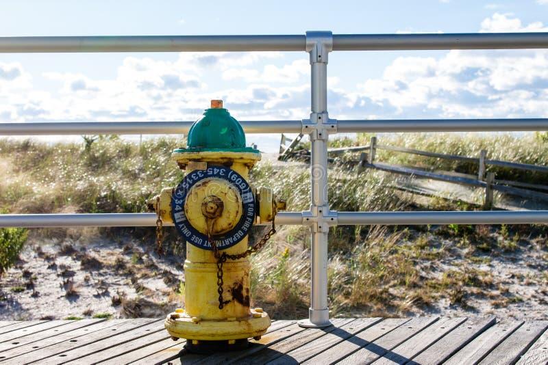 Hydrant auf Atlantic City Promenade lizenzfreie stockbilder